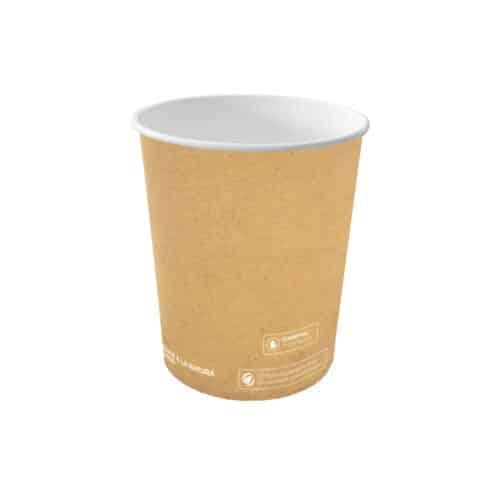 Bicchieri in carta avana e PLA 300 ml 100 pz