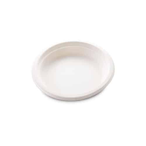 Piattini in polpa di cellulosa e PLA ø cm 18 100 pz