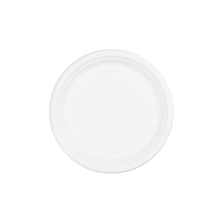 Piattini in polpa di cellulosa e bioplastica o cm 18 100 pz 1