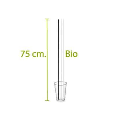 Cannucce lunghe biodegradabili 750x6,3 mm 250 pz