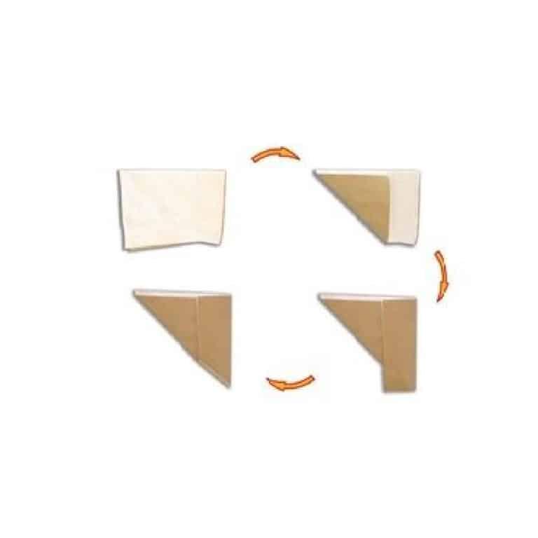 Carta ecologica per fritti e asporto - 23x35 cm 100 pz