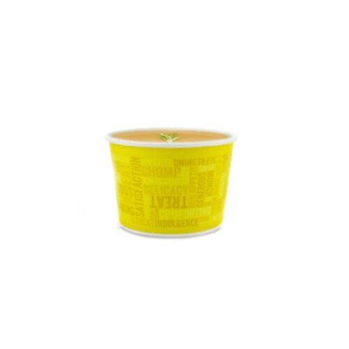 Ciotole colorate in cartoncino Kraft e PLA ml 470 50 pz