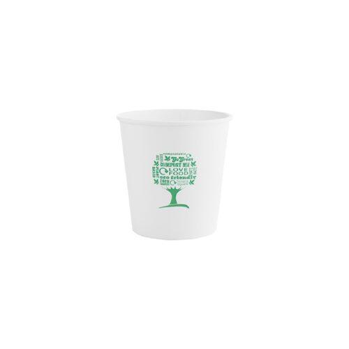 Ciotole con logo green in cartoncino Kraft e PLAml 700 50 pz