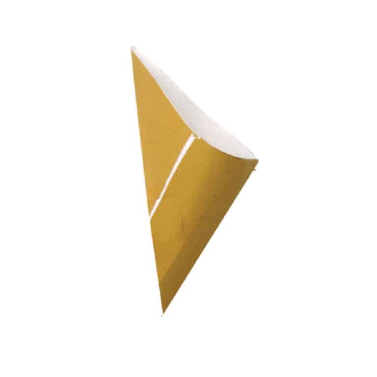 Coni antiunto per fritture in carta paglia 17x17x24 cm 200 pz