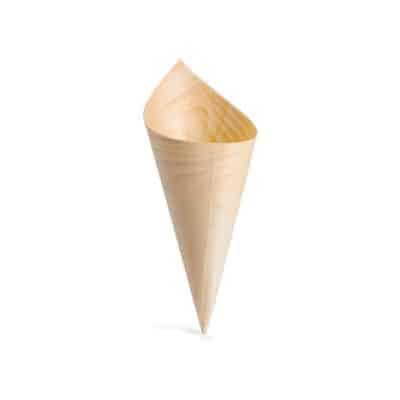Coni in legno per finger food 6.5 cm 100 pz