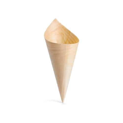 Coni in legno per finger food 9.5 cm 100 pz