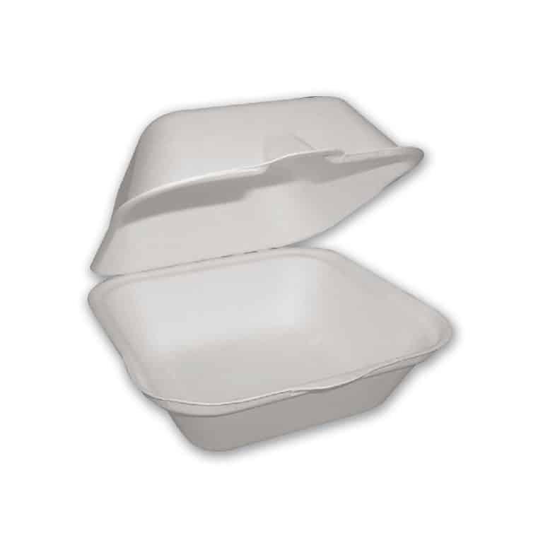 Contenitori da asporto in cellulosa e PLA 12x12 cm 500 pz