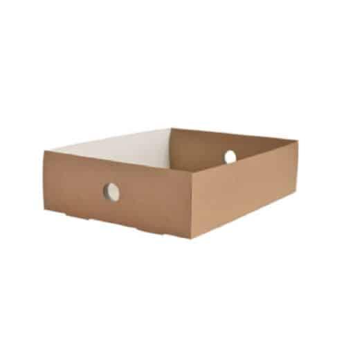 Contenitori in cartone riciclato per scatole bio mis. un mezzo 50 pz