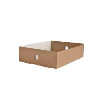 Contenitori in cartone riciclato per scatole bio mis. un quarto 50 pz