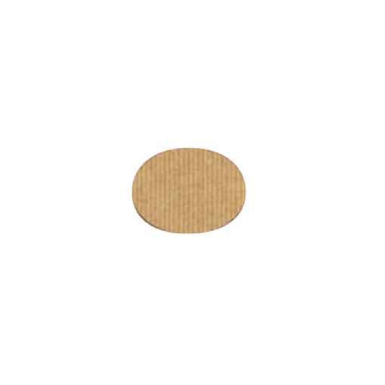 Etichette ovali in carta kraft 4,5x3,6 cm 400 pz
