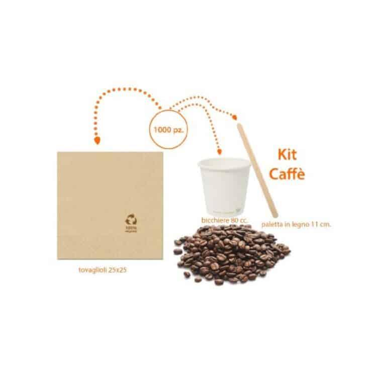 Kit Caffè biodegradabile e compostabile 1000 pz