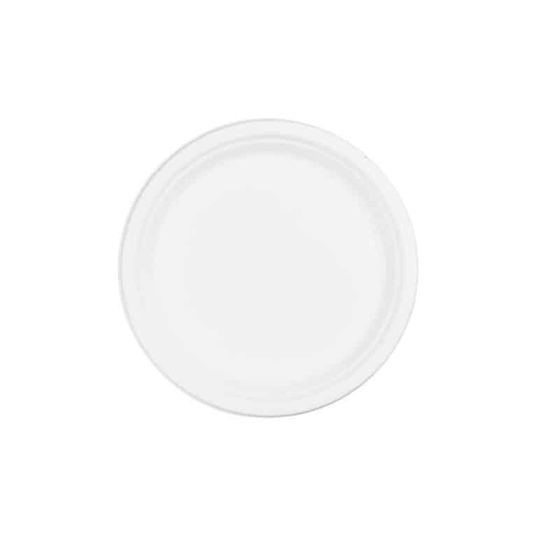 Piattini in polpa di cellulosa e bioplastica ø cm 15 100 pz