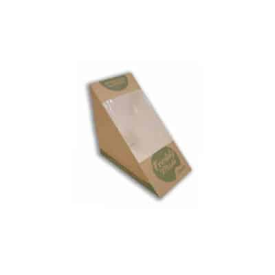 Porta tramezzino ecologico con finestra in PLA 72 mm 500 pz