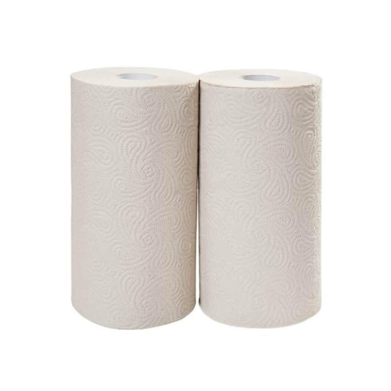 Rotoli da cucina in carta riciclata avana 2 veli 2 pz