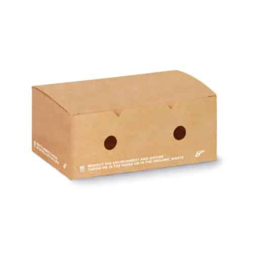 Scatole per fritti in cartoncino avana e PLA 12x10xh7 cm 600 pz