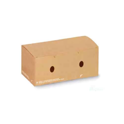 Scatole per fritti in cartoncino avana e PLA 20x10xh7 cm 350 pz
