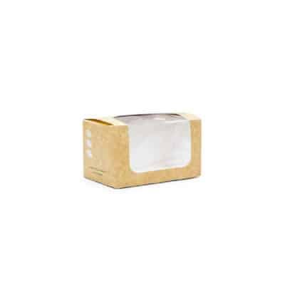 Scatolina in cartone con finestra in bioplastica 500 pz