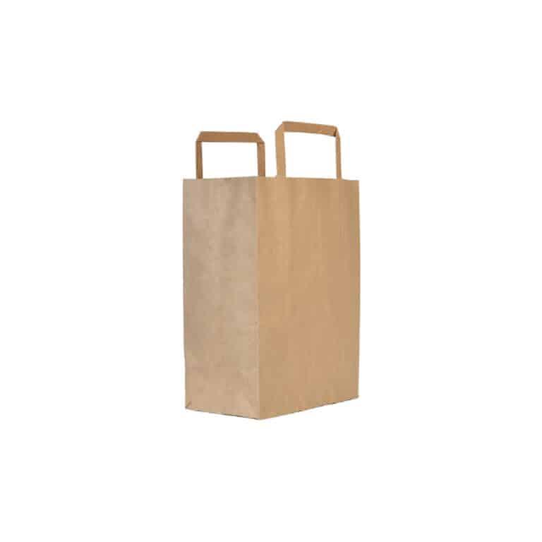 Shoppers avana con manici in carta ecologica 32+17x29 cm 300 pz
