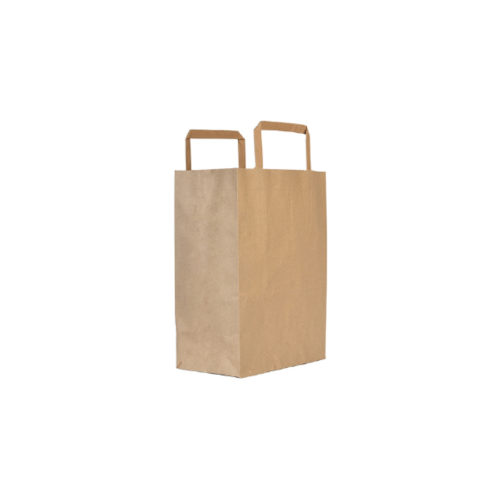 Shoppers avana con manici in carta ecologica e riciclata 22+10x29 cm 500 pz