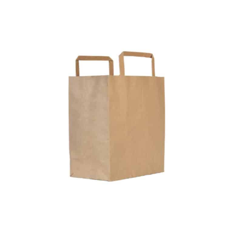 Shoppers ecologici in carta riciclata 32+24x22 cm 250 pz