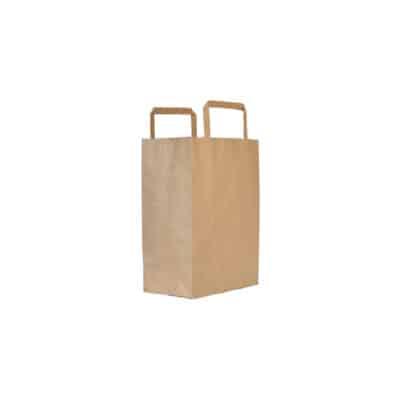 Shoppers in carta riciclata avana 17,5+8,5x21,5 cm 500pz
