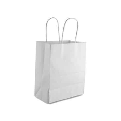 Shoppersin carta bianca con manici i32 cm 300 pz