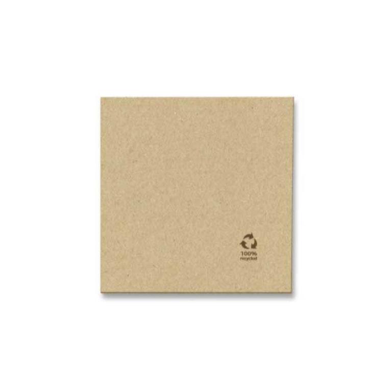 Tovagliolino recicled avana 2 veli 20x20 cm 200 pz