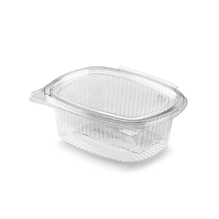 Vaschette Biodegradabili trasparenti con coperchio ml 710 200 pz