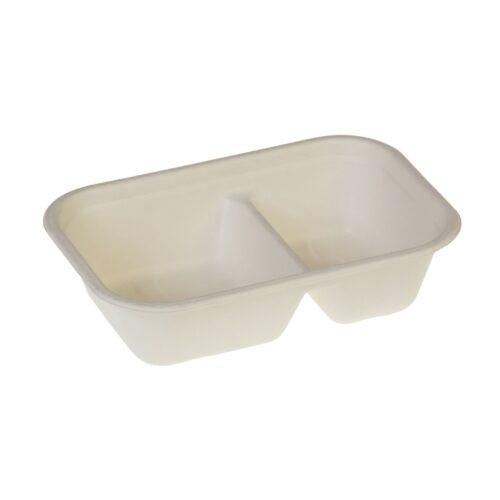 Vaschette bis comparto biodegradabili 1000 ml 125 pz
