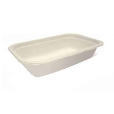 Vaschette per alimenti in cellulosa 1000 ml 125 pz