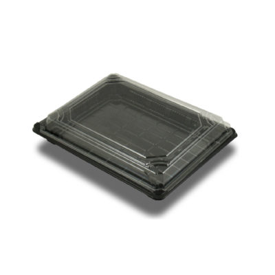 Vassoi neri per Sushi in bioplastica 18,2 x 13,8 x 4 cm 300 pz