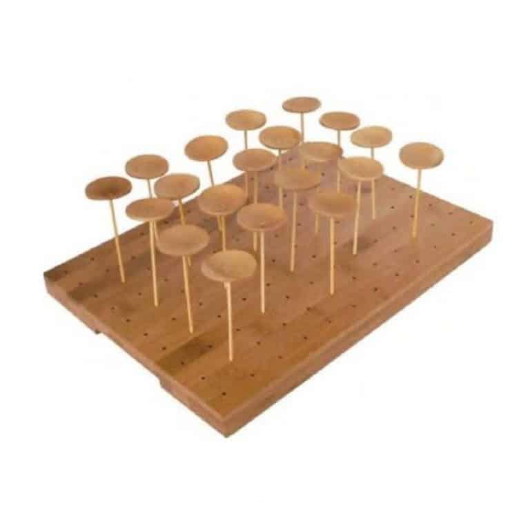 Vassoio in legno 120 fori per stecchini 1 pz