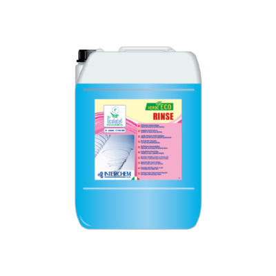 Detergente brillantante Ecolabel in tanica da 10 kg.