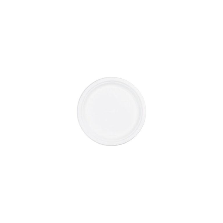 Piattini da aperitivo tondi in cellulosa e PLA ø 7,5