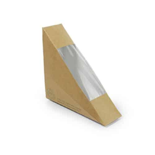 Porta tramezzino ecologico con finestra in PLA 3.8 cm 500 pz