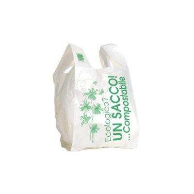 Shopper in Materbi bianca media cm. 26+6+6x50 500 pz