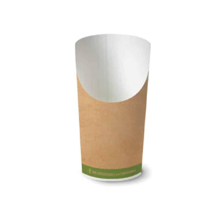 Bicchieri porta fritti in cartoncino avana 1400 pz