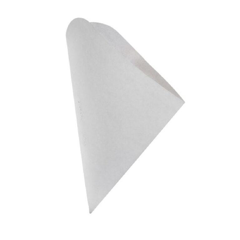 Coni per street food in cartoncino bianco 250 pz