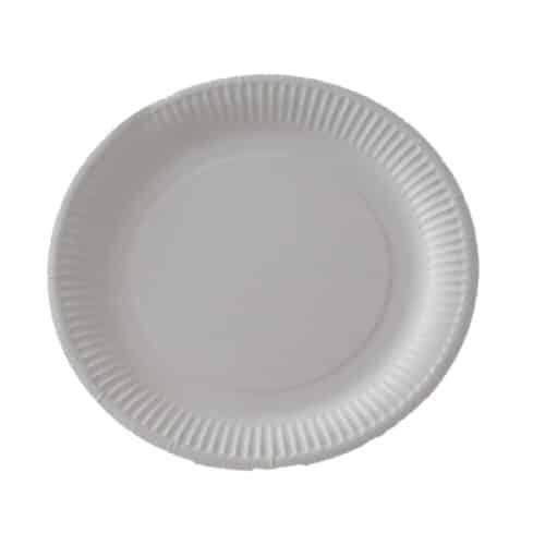 Piatti di carta foderati in BioCoated ø cm 23 100 pz