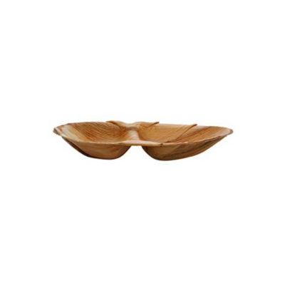 Piatti ovale bis comparto in foglia di palma 26x16 cm 100 pz