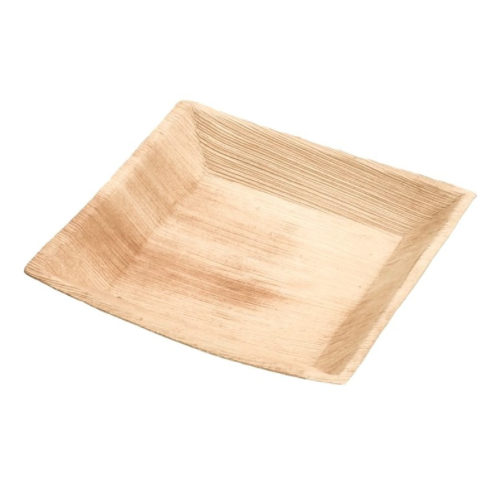 Piatti quadrati in foglia di palma 24x24 cm 100 pz