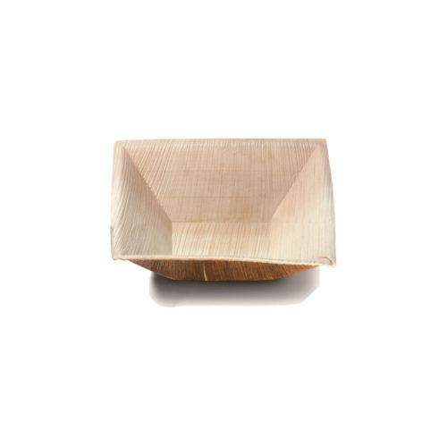 Piattini quadrati in foglia di palma cm 7x7 600 pz