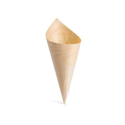 Coni da aperitivo in legno 17,5cm 100 pz