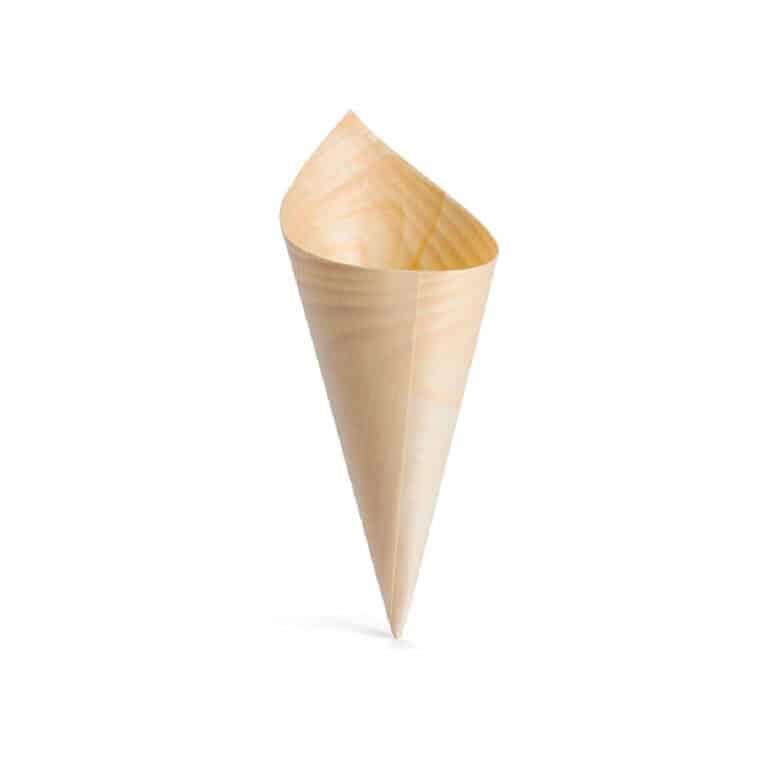 Coni da aperitivo in legno 22 cm 100 pz