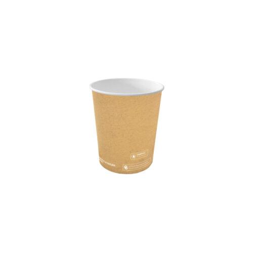 Bicchieri caffe personalizzati in cartoncino avana 125 ml 100 pz