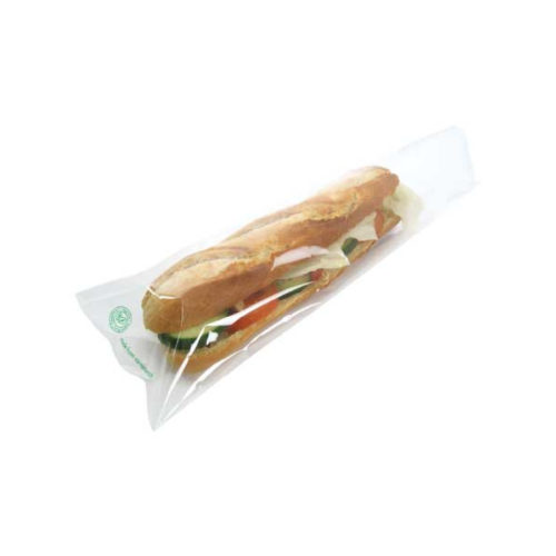 Bustine baguette biodegradabili con lato trasparente in PLA 1000 PZ