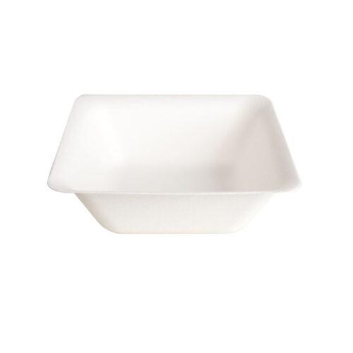 Piatti quadrati in polpa di cellulosa e PLA 900 ml 100 pz