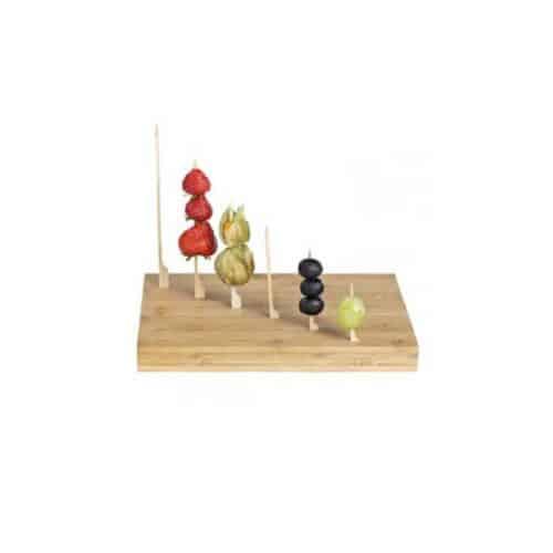 Vassoio in legno 49 fori per stecchini 1 pz