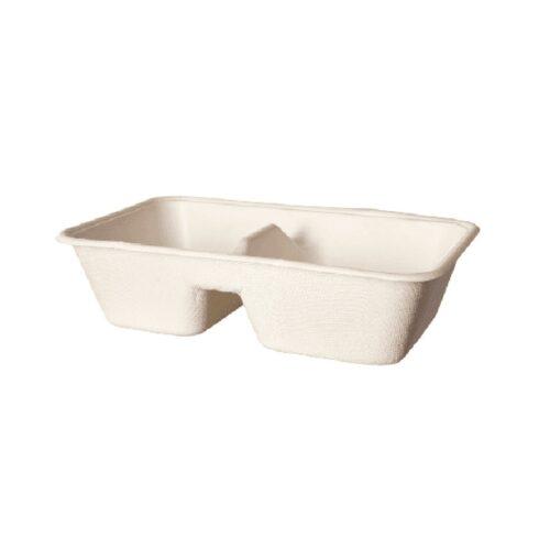 Vaschette per alimenti due scomparti 1000 ml 400 pz