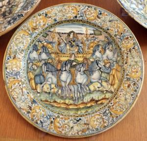 piatto ceramica castelli 1650